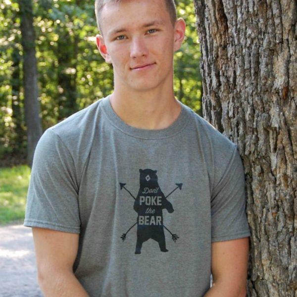 Don't Poke the Bear Grumpy Guy Tee Shirt