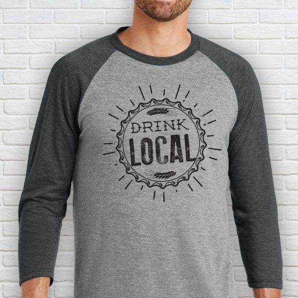 Drink Local Baseball Shirt