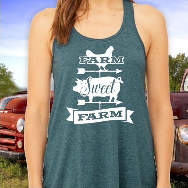 Farm Sweet Farm Ladies Tank