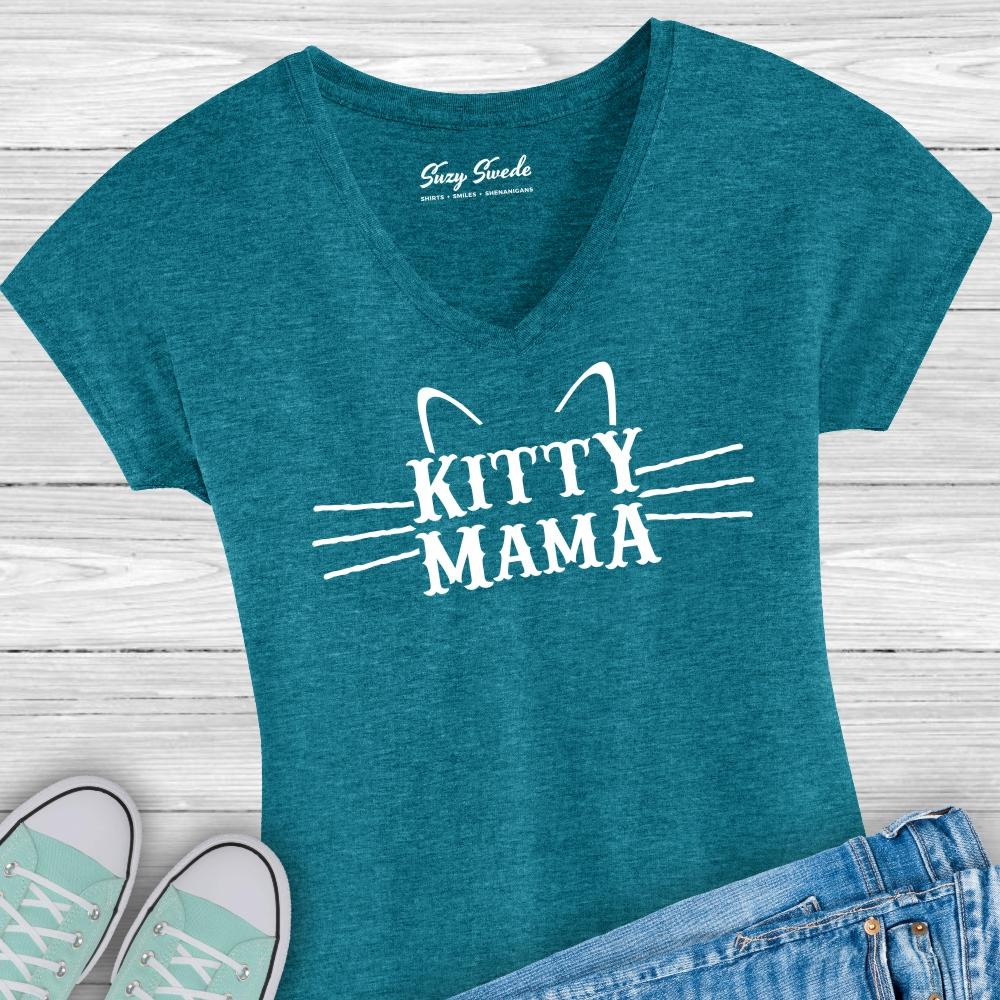 Kitty-Mama-Ladies-Vneck