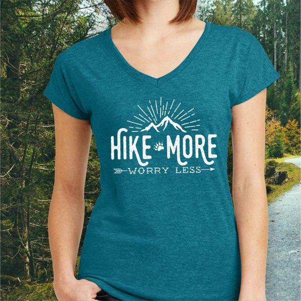 Hike More Worry Less Hiking T-shirt