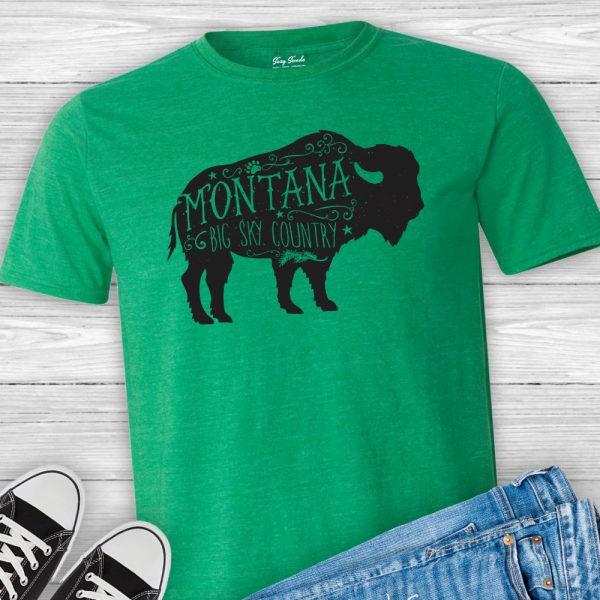 Montana buffalo tshirt