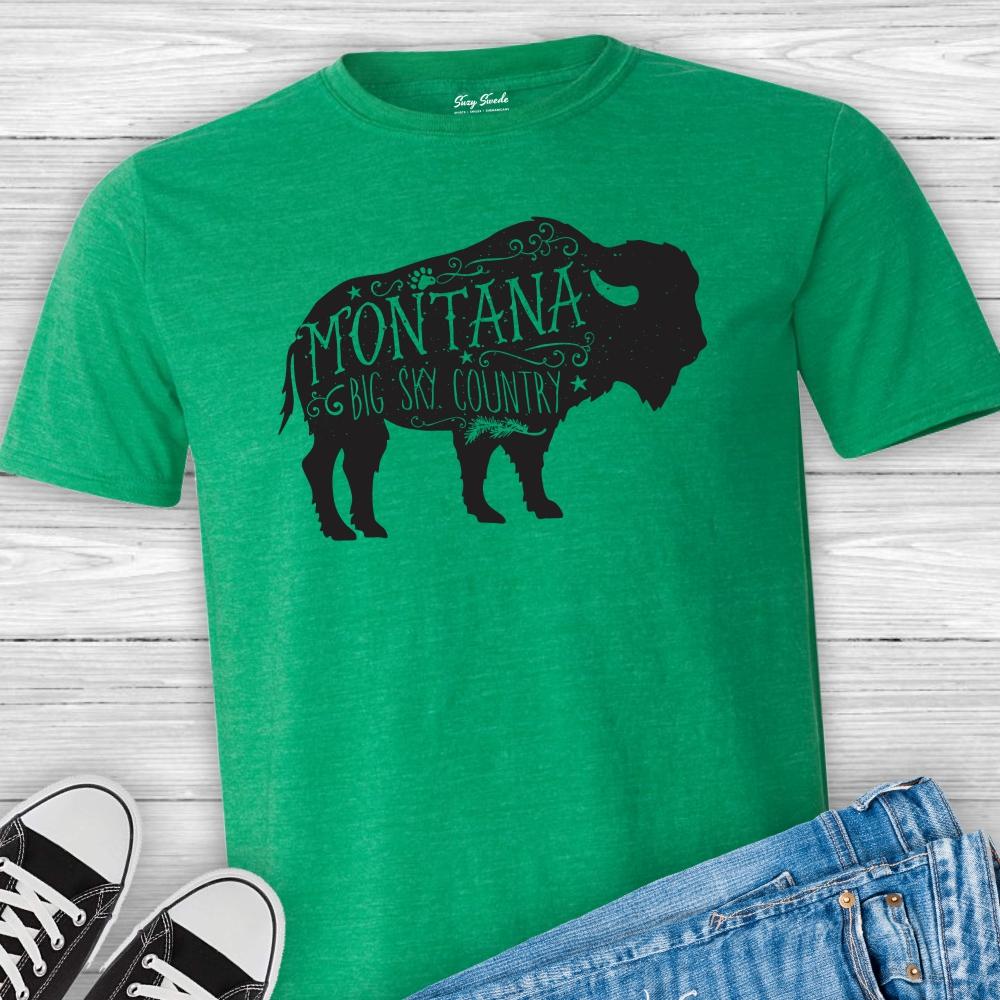 Montana-buffalo-tshirt