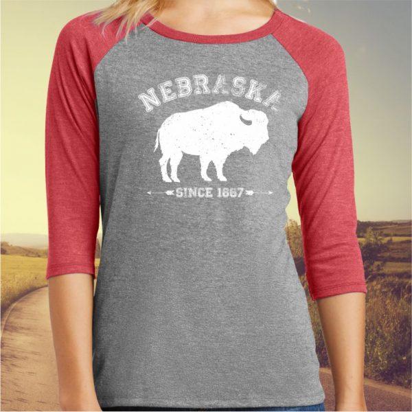 Nebraska Since 1867 Baseball Tee