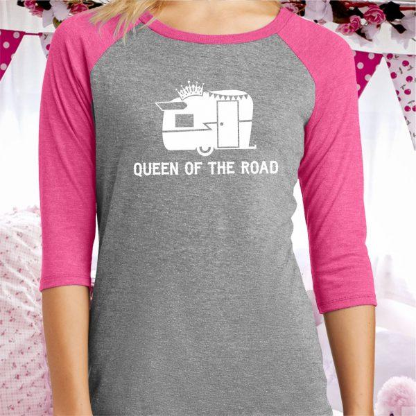 Queen of the Road Ladies Baseball Tee