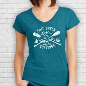 Shit Creek Survivor Womens T-Shirt