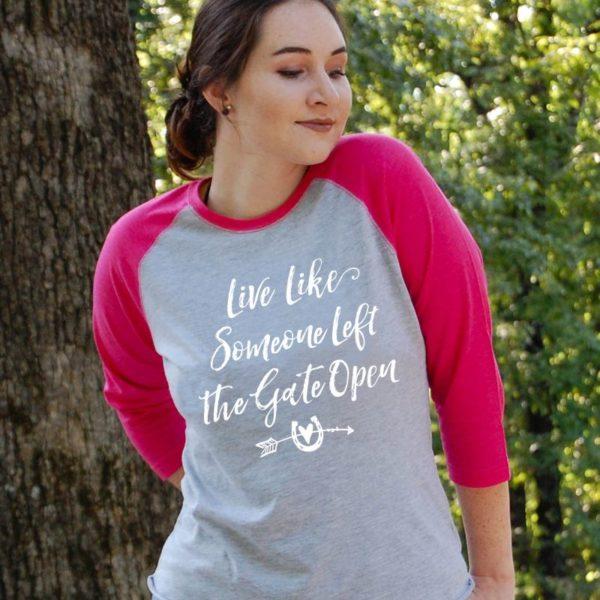 Live Like Gate Open Baseball Tee