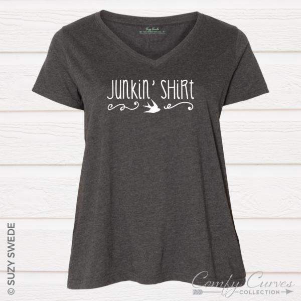 JunkinShirt Vneck Grey