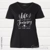 LifeJourney Vneck Black
