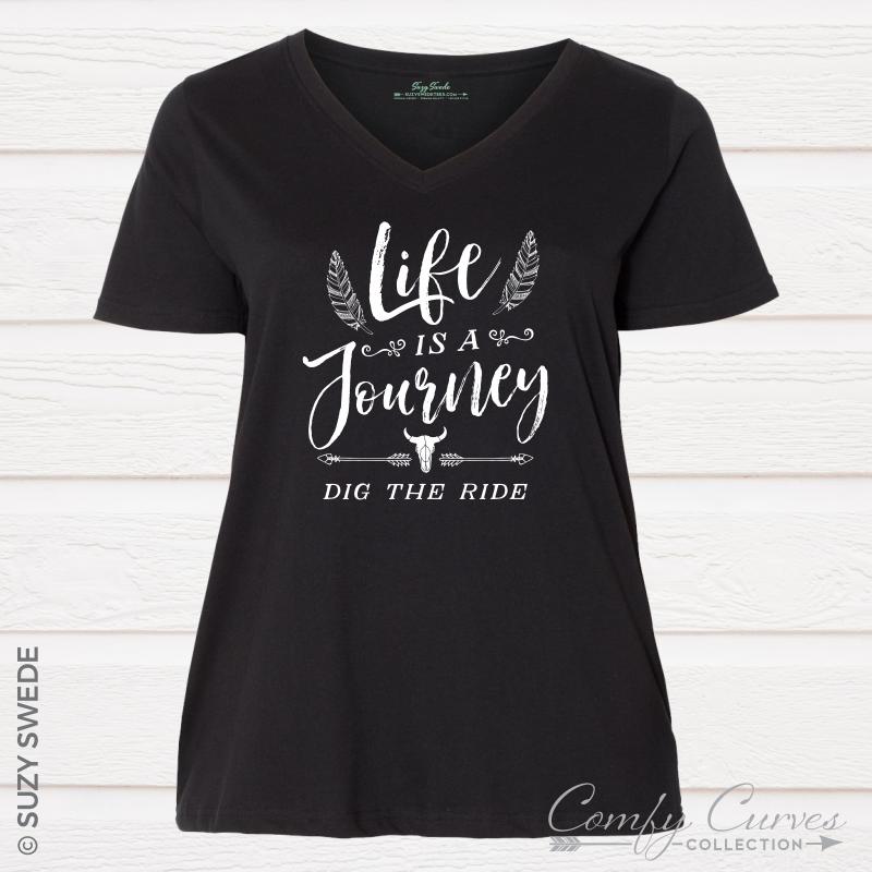 LifeJourney-Vneck-Black