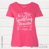 Sparkling Vneck Pink