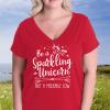 Sparkling Vneck Red