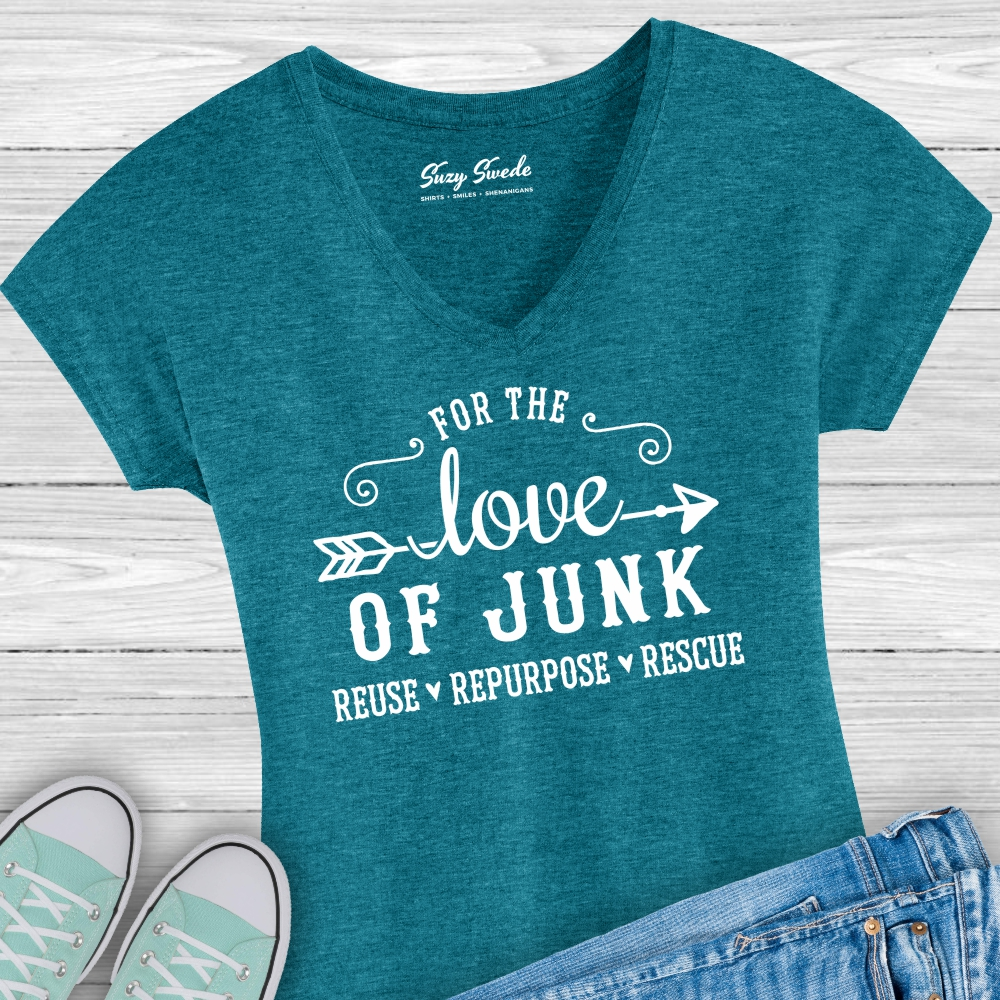 For-Love-Junk-Ladies-Vneck-Tshirt
