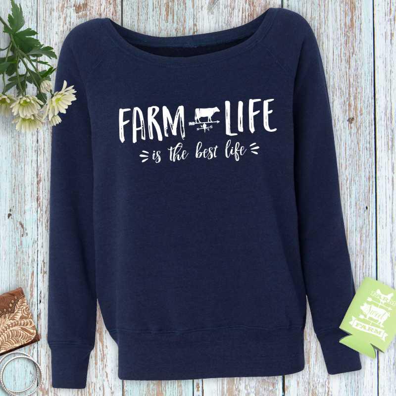 Farm Life is the Best Life Ladies Fleece Sweatshirt