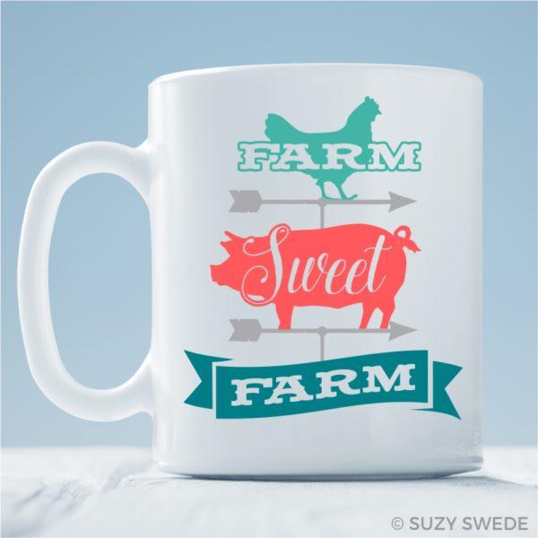 Farm Sweet Farm Coffee Mug Farmhouse Mug