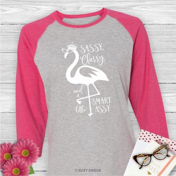 Sassy Classy and a little Smart Assy Baseball Tee Shirt