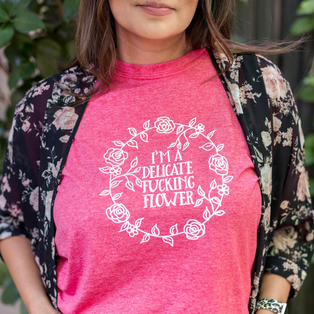 Delicate-Fucking-Flower-Tee-Shirt