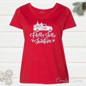 Holly Jolly Junkin' Ladies Flea Market Plus Size Tee
