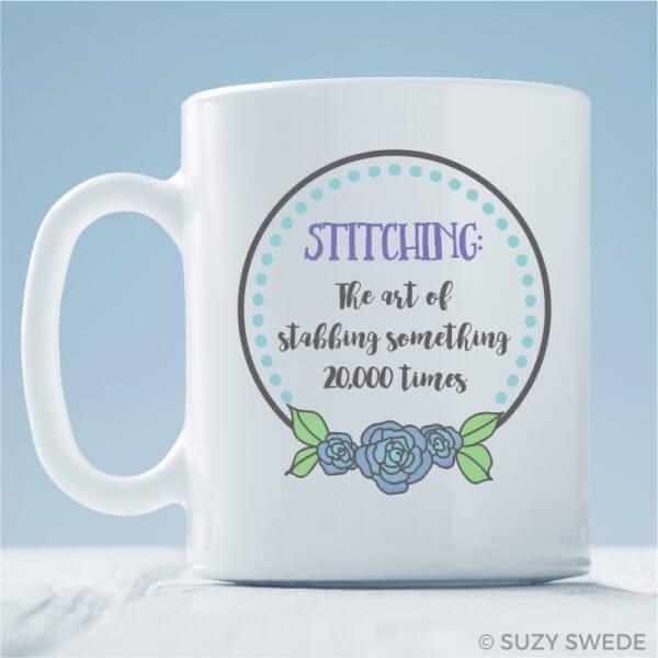 Stitching Stabbing Mug