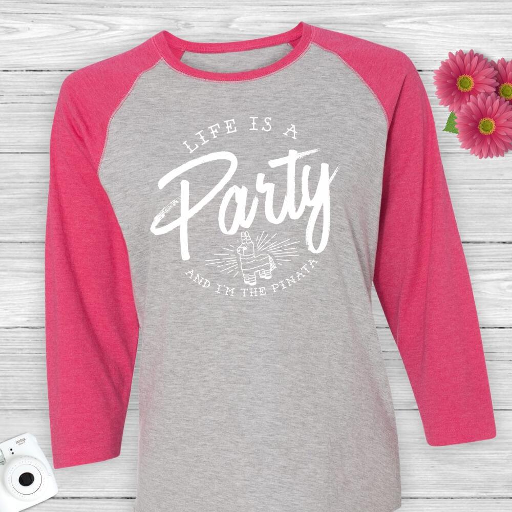 Life-Party-Pinata-Baseball-Tee