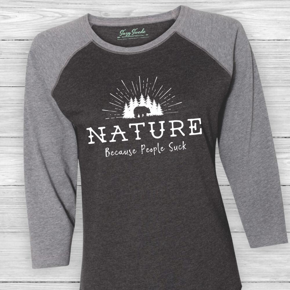 Nature-People-Suck-Baseball-Tee