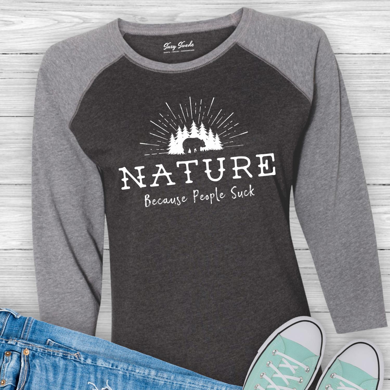 Nature-People-Suck-Introvert-Baseball-Tshirt