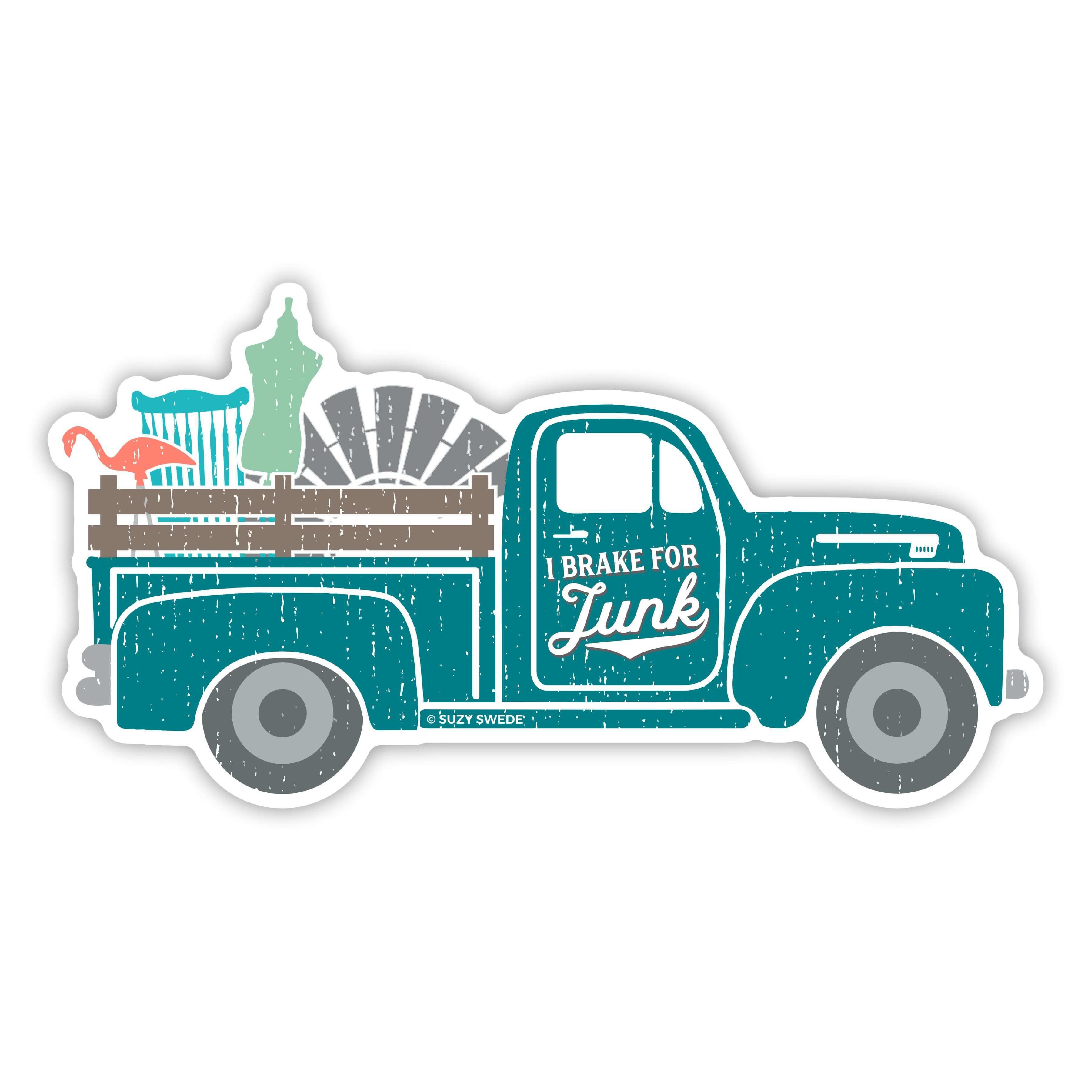 Brake-For-Junk-Sticker