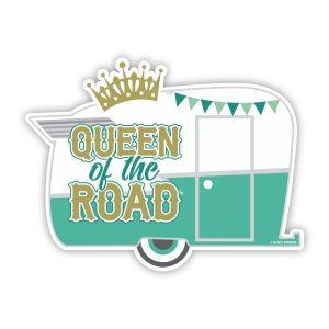 Queen of the Road Sticker