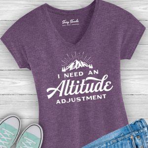 I need an Altitude Adjustment Ladies Mountains Tee Shirt