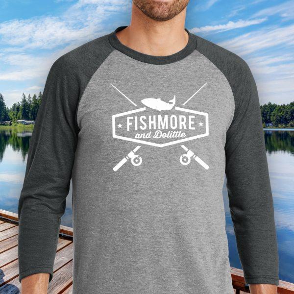Fishmore & Dolittle Fishing Baseball Tee