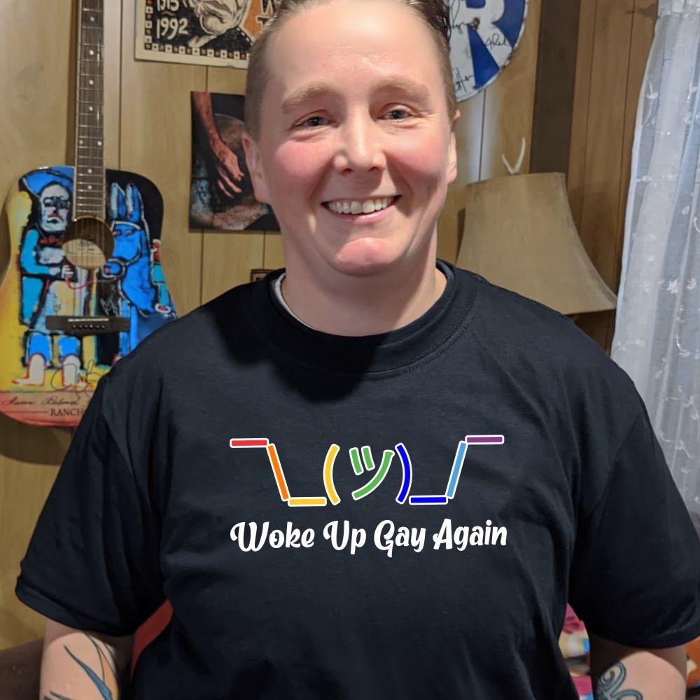 Woke Up Gay Again LGBTQ T-Shirt