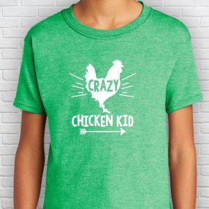 Crazy Chicken Kid T-Shirt