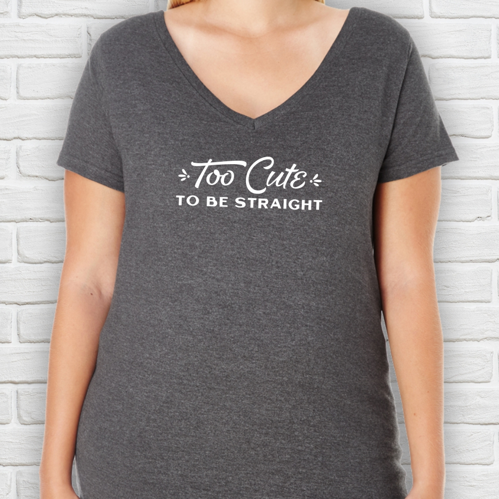 Too Cute to Be Straight Plus Size T-Shirt