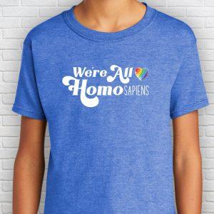 We're All Homosapiens LGBTQ Youth T-Shirt